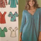 Simplicity Sewing Pattern 3624 Ladies Misses Knit Woven Tops Size 6-14 Uncut