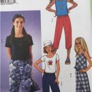 Butterick Sewing Pattern 3482 Girls Childs Tops Pants Size 7-10 Uncut