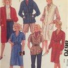 -McCalls Sewing Pattern 8670 Misses Coat-Dress Shirt-Jacket Dress Jumper Size 12