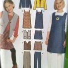 Simplicity Sewing Pattern 9855 Girls Pants Skirt Vest Jacket Size 7-16 Uncut