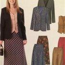 McCalls Sewing Pattern 4564 Ladies Misses Jacket Skirt Vest Size 6-12 Uncut