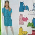 Simplicity Sewing Pattern 9653 Girls Dress and Jacket Size 7-16