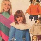 McCalls Sewing Pattern 5226 Girls Childs Ponchos Size MD-XL Uncut