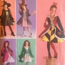 Simplicity Sewing Pattern 2834 0416 Girls Witch Queen Hearts Costume Siz 7-14 UC