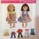 "Simplicity Sewing Pattern 3936 18"" (45.5cm) Doll Clothes Uncut"