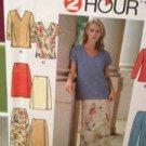 Simplicity Sewing Pattern 8087 Ladies / Misses Top Skirt Pants Size 8-12 Uncut