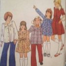 Sewing Pattern No 4387 Butterick Girls Tops and Dresses & Belt Size 14