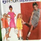 Simplicity Sewing Pattern 7069 Girls Dresses Top Pants Shorts Size 7-10