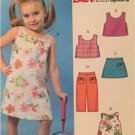 McCalls Sewing Pattern 4815 Girls Childs Reversible Top Dress Skort Size 2-5 UC