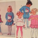 Butterick Sewing Pattern 5964 Girls Childs Dress Top Leggings Size 5-6X UC