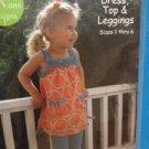 Olive Ann Sewing Pattern 0063 Girls Dress Top Leggings Size 1-5Y UC