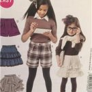 McCalls Sewing Pattern 6391 Girls Childs Skirts Shorts Size 3-6 Uncut