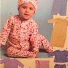 McCalls Sewing Pattern 4998 Baby Infant Jacket Top Gown Romper Size S-XL UC