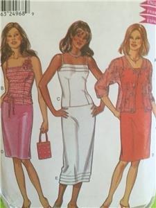 New Look Sewing Pattern 6081 Misses Ladies Skirt Top Jacket Size 8-18 Uncut