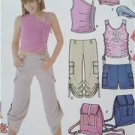 Simplicity Sewing Pattern 5228 Pants Shorts Top Cap Backpack Siz 8-16