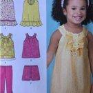 Simplicity Sewing Pattern 1673 Girls Toddlers Dress Pants Shorts Size 1/2-4 UC