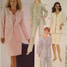 McCalls Sewing Pattern 2594 Ladies Misses Lined Jacket Top Skirt Size 26W-32W UC