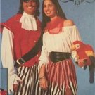McCalls Sewing Pattern 8437 Mens Misses Pirate Costumes Size 38-40 UC