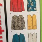 Simplicity Sewing Pattern 5841 Ladies Misses Vest Jacket Size XS-XL Uncut