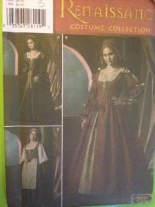 Simplicity Sewing Pattern 4488 Ladies / Misses Renaissance Costumes Sze 16-24 UC