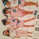 Butterick Sewing Pattern 3972 Girls Childs Top Dress Shorts Pants Belt Size 4-6