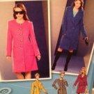 Simplicity Sewing Pattern 1759 Ladies / Misses Lined Coat Size 4-12 Uncut