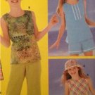 Simplicity Sewing Pattern 5577 Girls Dress Top Pants Shorts Hats Size 7-10 UC
