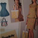 Simplicity Sewing Pattern 1666 Dress Top Skirt Bag Size 16-24 Water Damaged UC