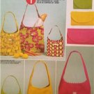 McCalls Sewing Pattern 6130 Shopping Bags Three Sizes Uncut Accessories