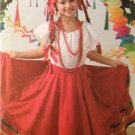 Simplicity Sewing Pattern 3863 Childs Dance Costume Mexican Size S-L Uncut