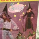 McCalls Sewing Pattern 5209 / 0471 Girls Witch Costumes Size 7-10 Uncut