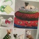 McCalls Sewing Pattern 6455 Pet Dog Bed Leash Case Harness Vest Uncut