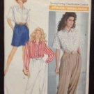 Butterick Sewing Pattern 3944 Ladies / Misses Shirt Pants Short Size 12-16 Uncut