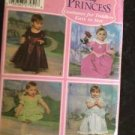 Sewing Pattern No 4949 Simplicity Disney Princess Costumes Toddlers Size 1/2-4