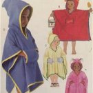 McCalls Sewing Pattern 4503 Girls Boys Childrens Cover Ups Size 3-8 Uncut