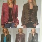 McCalls Sewing Pattern 4972 Misses Ladies Lined Jacket Size 6-12 Uncut
