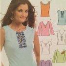 McCalls Sewing Pattern 5105 Ladies Misses Tops Size XS-MD Uncut