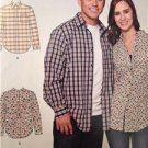 Simplicity Sewing Pattern 1493 Misses Ladies Mens Shirt Size XS-XL Uncut