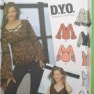 Simplicity Sewing Pattern 5479 Juniors Teens Girls Top 5 Designs DYO 7/8-15/16