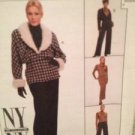McCalls Sewing Pattern 8517 Jacket Top Skirt Pants Size 12 UC Water Damaged