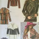 McCalls Sewing Pattern 6656 Ladies Misses Lined Jackets Coat Size XS-MD Uncut
