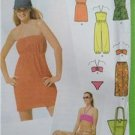 Simplicity Sewing Pattern 5008 Juniors Misses Beach Cover Ups Swimsuit 7-16