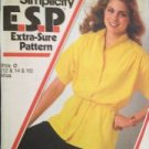 Sewing Pattern No 8968 Simplicity Ladies Top and Tie Belt Size 12-16