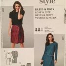 Burda Sewing Pattern 6976 Ladies Misses Dress Skirt Size 8-18 Uncut