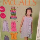 McCalls Sewing Pattern 6501 Girls Top Rompers Dress Leggings Size 101/2-161/2 UC