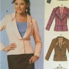 McCalls Sewing Pattern 6655 Misses Ladies Lined Jacket Size 16-24 Uncut