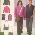 Simplicity  Sewing Pattern 2480 Misses Mens Teens Jacket Vest and Bag XS-M
