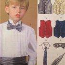 McCalls Sewing Pattern 4290 Boys Child Lined Vest Cummerbund Size 7-12 Uncut