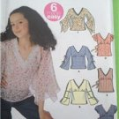Simplicity Sewing Pattern 5399 Girls Plus Pullover Top Sleeves Trim Size 8-16