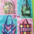 Butterick Sewing Pattern 4248 Fat Quarter Bags Beach Bags Shopping Bags